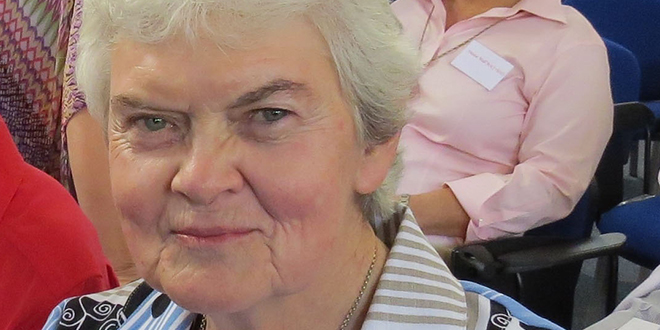 Sadly missed: Sr Philomene Tiernan at the Sacred Heart Spirituality Conference in the UK earlier this month.