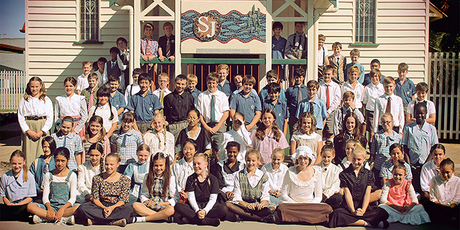 Back in time: St Peter's Year 6 students got a taste of what Catholic schooling was like at the turn of the 20th Century.