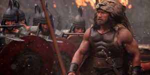 Legendary hero: Dwayne Johnson stars in a scene from the movie Hercules. Photo: CNS/Kerry Brown, Paramount