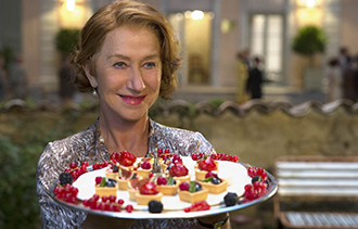 """Madame Mallory (Helen Mirren) is chef proprietress of Le Seule Pleurer Restaurant in """"The Hundred-Foot Journey"""" which centres around rival restaurants in a small town in France."""
