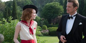 Dealing in magic: Emma Stone and Colin Firth star in a scene from the movie Magic in the Moonlight. Photo: CNS