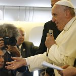 Pope Francis flight