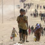 Children flee Iraq violence
