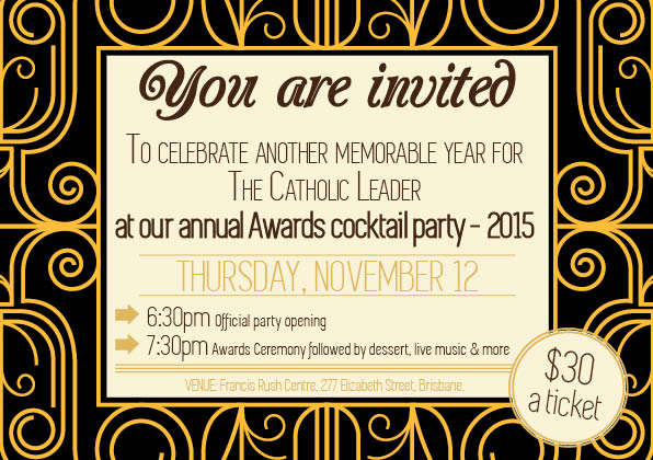 The Community Leader Awards 2015 invitation