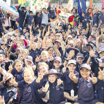 Students march for peace
