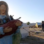Statue of Mary at Irbil camp