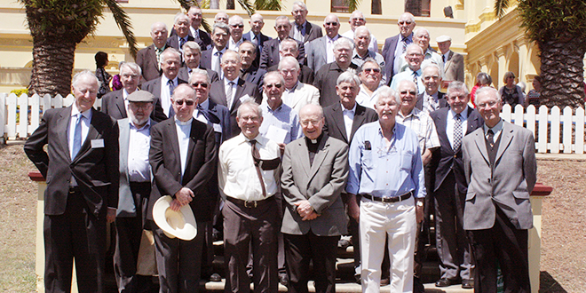 Lasting friendships: Around 90 men from St Joseph's Nudgee College Old Boys' 1954 classes, among others, reunited at the College last month 60 years since graduating.