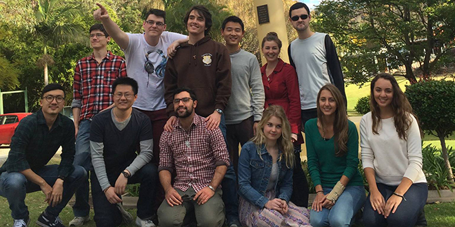 Student life: Members and friends of the Newman Catholic Society strengthening friendship and faith at Marian Valley in Canungra.