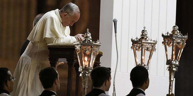 Call for prayer: Pope Francis.