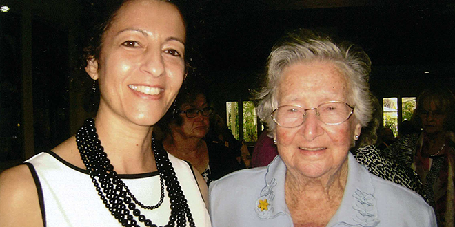 Members: The Catholic Women's League youngest member Lee-Ann Holmes, and the oldest Anne Lowe