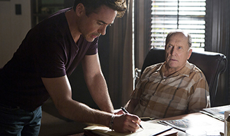 Legal drama: Robert Downey Jr and Robert Duvall star in a scene from the movie The Judge. Photo: CNS
