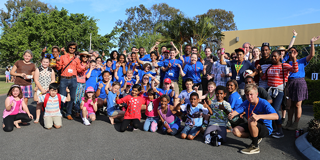 New connection: Redcliffe Catholic parish welcomed a big crowd of youth and young adults for the launch of its new youth group, Connect Youth.