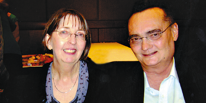 Great loss: Dr Mary Walsh with her late husband, Dr Nicholas Tonti-Filippini, who died last night in Melbourne