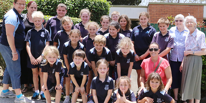 Sharing stories: St Maria Goretti School, Inglewood, will be the last school to walk through the doors of the Mary MacKillop Centre in Annerley.