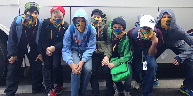 Intuitive minds: Students from St Ita's School, Dutton Park, during their trip to the Tournament of Minds' Australasian and Pacific Finals in Melbourne.