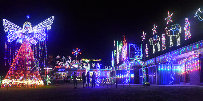 Christmas lights at Chermside West parish