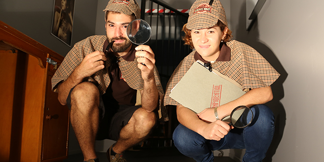 Family fun: Brother and sister Paul and Giovanna Shakhovskoy are directors for a new Brisbane attraction, Escape Hunt.