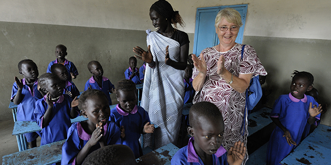 Year of support: Sister Elizabeth Ryan is an Irish member of the Faithful Companions of Jesus working in South Sudan. The Pope has urged all Catholics to find practical ways to support religious and their ministries. Photo: CNS