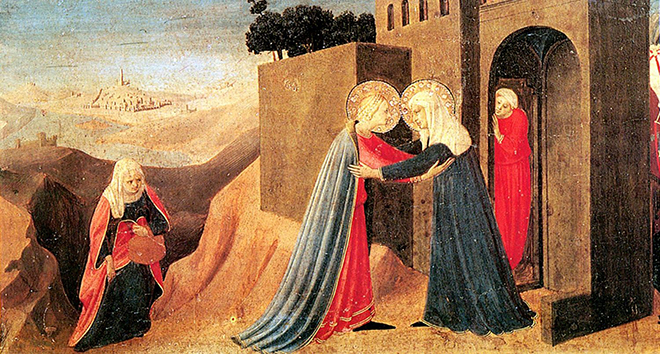 Spiritual joy: The Visitation, by Fra Angelico.