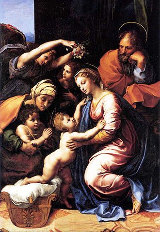 Growing in wisdom: The Holy Family, by Raphael.