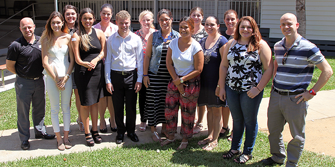 Looking forward: Aboriginal and Torres Strait Islander mentees and their mentors celebrate at Ngutana Lui.