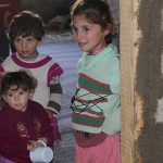 Displaced Iraqi Yezidi children