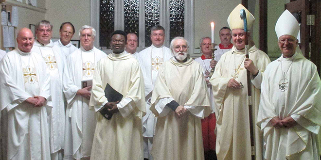 Night of faith: Deacon Neville Rohrlach was ordained by Brisbane Auxiliary Bishop Brian Finnigan at St Benedict's Church, East Brisbane, on January 20.