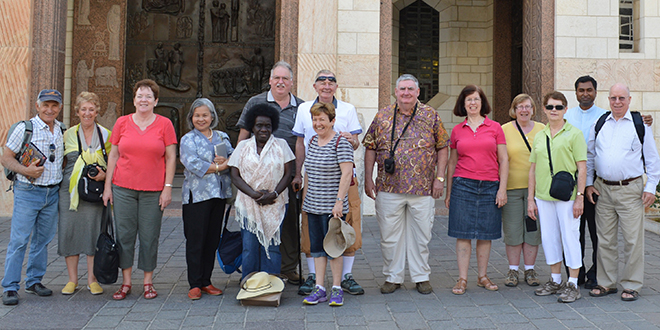 Blessed time: Brisbane pilgrims relished their Holy Land visit last year.