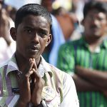 Young Sri Lankan man prays