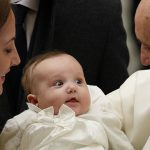 Pope Francis and baby