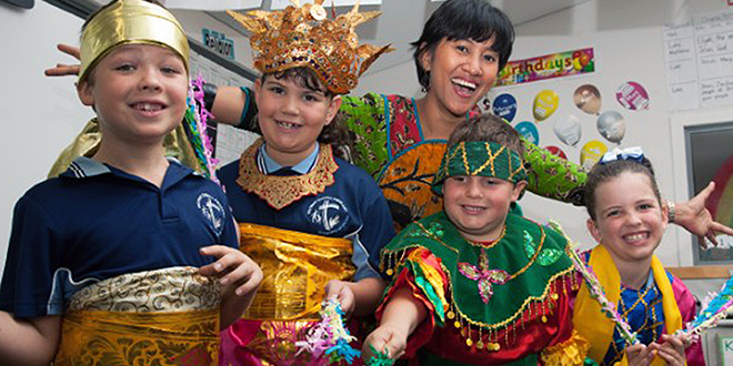 Scholarship: Rina Kerrins and her students are passionate about Indonesian culture and language.