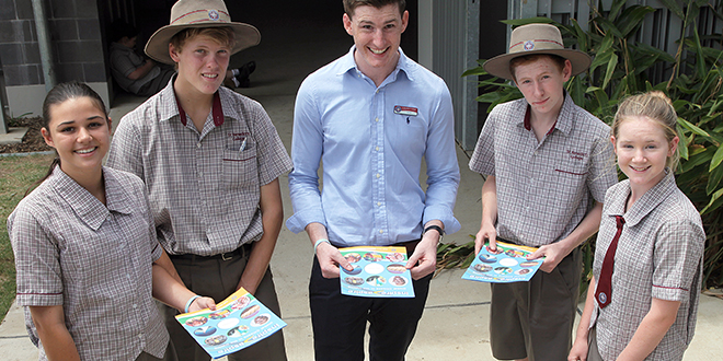 Educational program: Alex Gregg speaks to students at St Benedict's College about the inspire>aspire educational program.