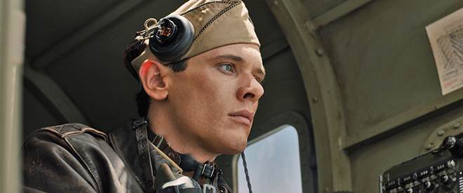 """War story: Jack O'Connell, as Louis """"Louie"""" Zamperini, in a scene from the movie Unbroken. Photo: CNS/Universal"""
