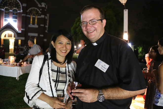 Fr Michael Grace and Mira Tedjo