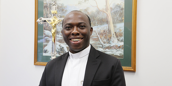 "Fr Anthony Ekpo: ""… And that's one thing with the priesthood – to always see and hear the voice of God, through whatever means – and this time through my bishop."""