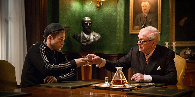 "Called to service: Taron Egerton and Michael Caine star in a scene from the movie ""Kingsman: The Secret Service"". Photo: CNS/20th Century Fox Film Corporation via EPK TV"