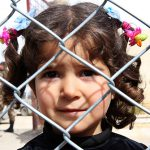 Displaced Syrian girl