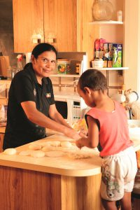Helping hand: Karen is a proud participant in the Caritas Australia's Manage Your Income, Manage your Life program.