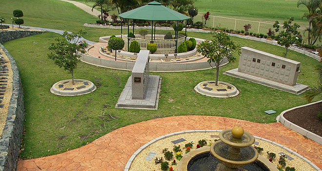 Place to remember: Allambe Memorial Park recently added 144 crypts over four levels and two private family mausoleums in the beautifully designed Crypts of the Sacred Heart.