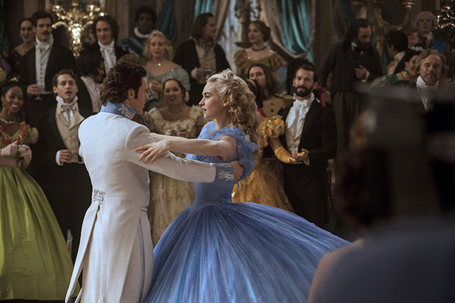 Family viewing: Lily James and Richard Madden star in a scene from the movie Cinderella. Photo: CNS/Disney Enterprises