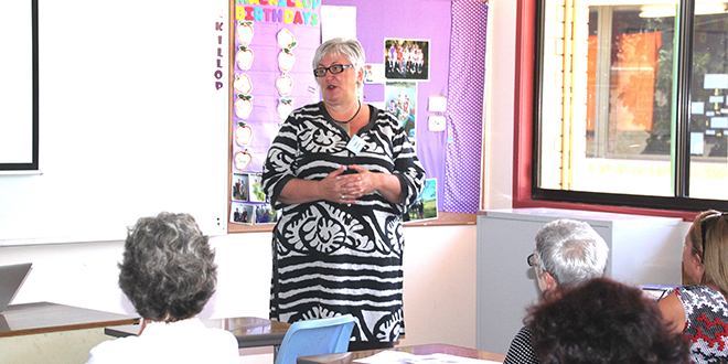 Gifted communicator: Clara Geoghegan running a workshop on Called and Gifted program in Rockhampton diocese.