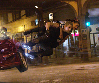 """Inter-galactic friends: Channing Tatum and Mila Kunis star in a scene from the movie """"Jupiter Ascending"""". Photo: CNS/Warner Bros."""