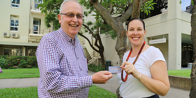 Good news: Evangelisation Brisbane project officer Mike Humphrys invites teacher Kate Ferguson to the agency's new formation series, Living Biblically in a Secular World.
