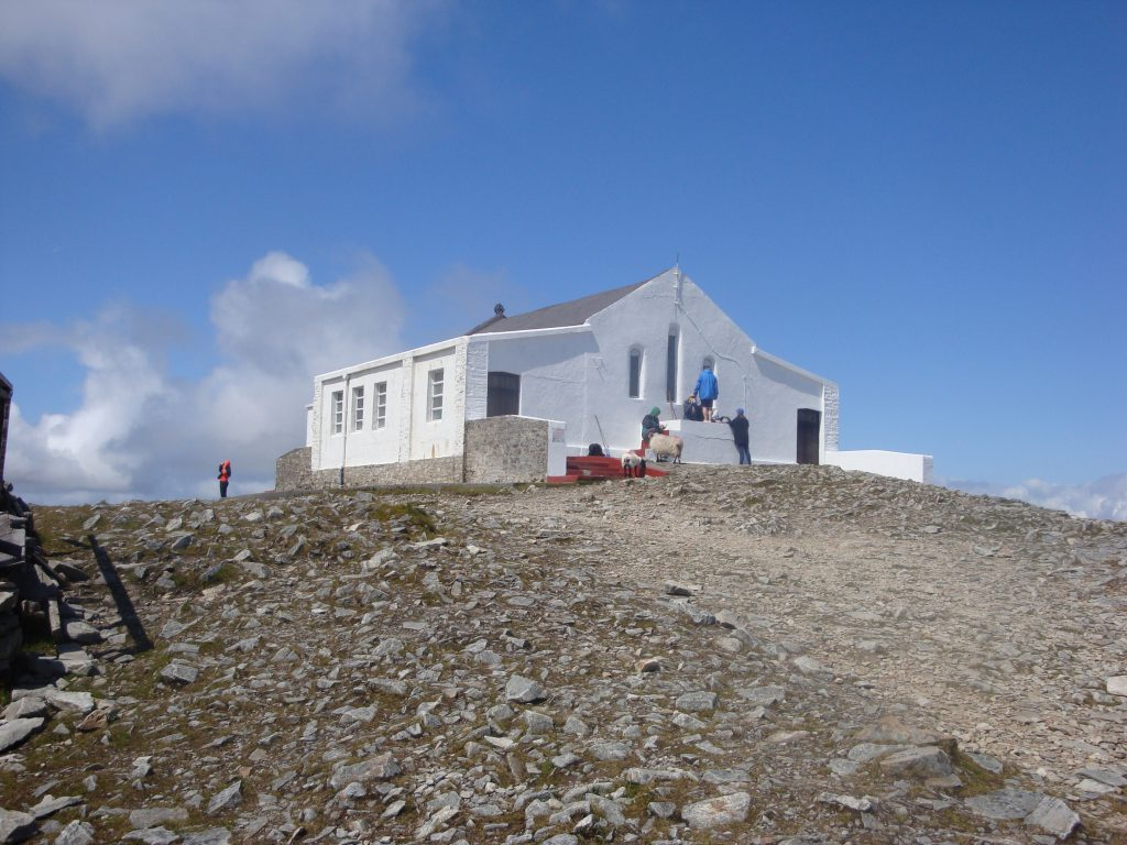 Holy ground: The Church on Summit of Croagh Patrick.