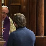 Pope Francis hears confession