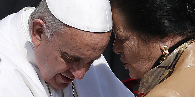 """Pope Francis: """"It is so difficult to describe him. He's very simple, yet tremendously complex, a man of great depth and great ability, and enormous personal goodness."""" Photo: CNS"""