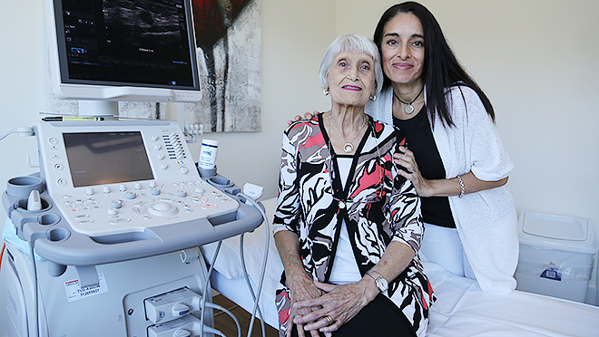 Beating cancer: Margaret and Sandra Lungo have been impressed by Holy Spirit Northside's new Breast Health Centre, the first on the northside.