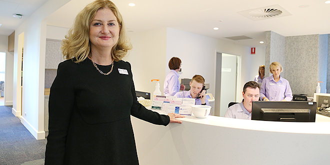 Leading the way: Holy Spirit Norhside Private Hospital general manager Daniele Doyle at the hospital's new Breast Health Centre.