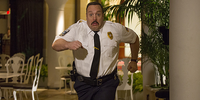 Stilted comedy: Kevin James stars in a scene from the movie Paul Blart: Mall Cop 2.