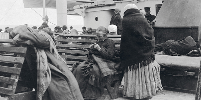 Survivors: A photograph of the Titanic passengers taken by the late Irish Jesuit Father Frank Browne.